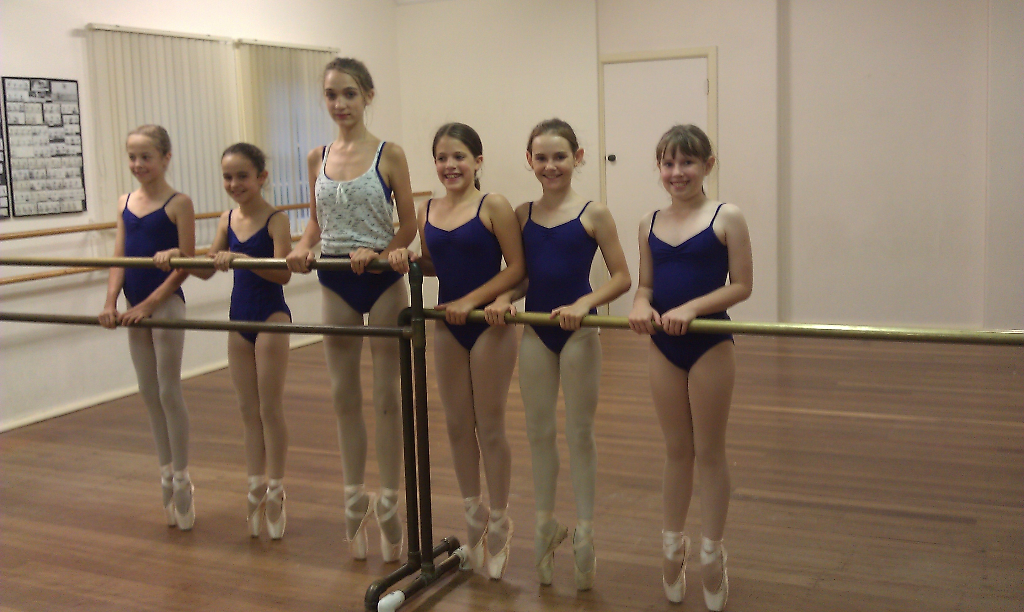 First day en pointe at Anastasia's Ballet School, in Sydney, Australia.