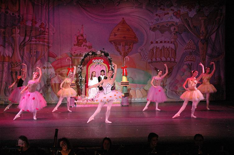 Anastasia's student – LeighAnn Klein (center) in Nutcracker.