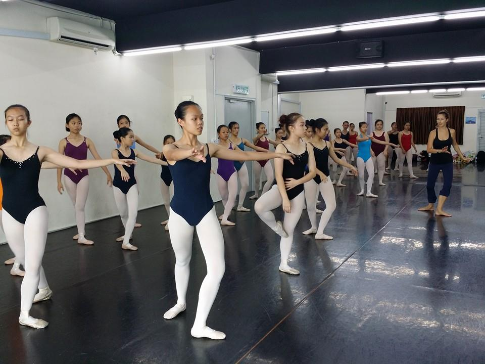With students in Kuala Lumpur, Malaysia at Vivace Dance World.
